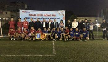 Giao hữu bóng đá giữa Công ty cổ phần MIZA & Công an thị trấn Đông Anh.