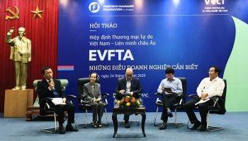 Chủ tịch VCCI: Cùng nắm tay nhau vun xới 'cây đời xanh tươi' EVFTA